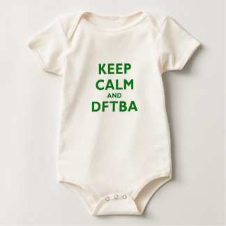 Keep Calm and DFTBA Baby Bodysuit