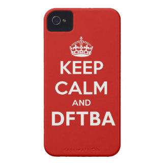 Keep Calm and DFTBA Be Awesome iPhone 4 Case-Mate Case