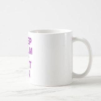 Keep Calm and Diet On Classic White Coffee Mug