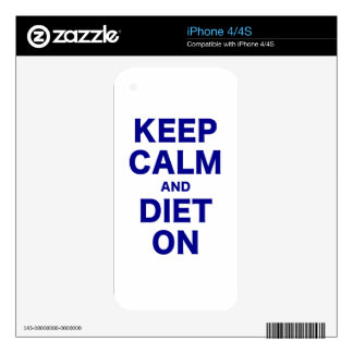 Keep Calm and Diet On iPhone 4S Skins