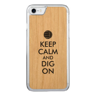 Keep Calm and Dig On Volleyball Sports Lovers Carved iPhone 7 Case