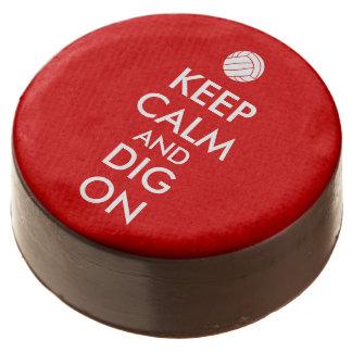 Keep Calm and Dig On Volleyball Sports Lovers Chocolate Covered Oreo