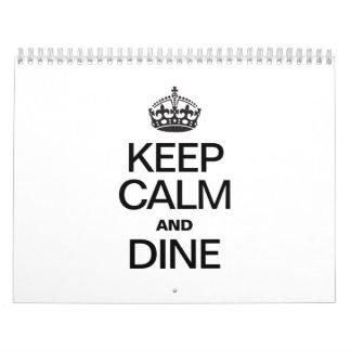 KEEP CALM AND DINE CALENDARS