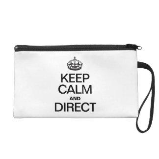 KEEP CALM AND DIRECT WRISTLET PURSES