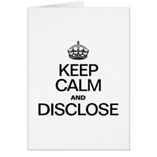 KEEP CALM AND DISCLOSE GREETING CARD