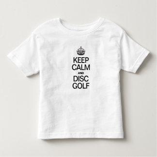 KEEP CALM AND DISK GOLF T SHIRT