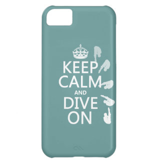Keep Calm and Dive On (in any color) Cover For iPhone 5C