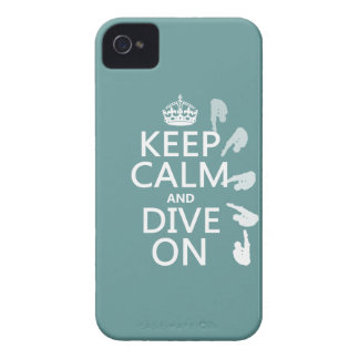 Keep Calm and Dive On (in any color) iPhone 4 Case