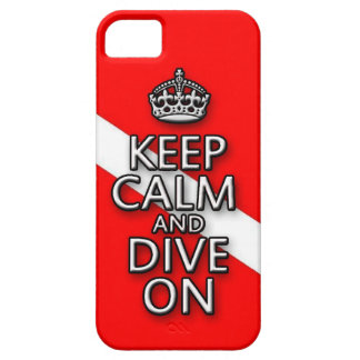 keep calm and dive on iphone case