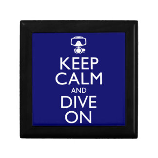 Keep Calm and Dive On Jewelry Box