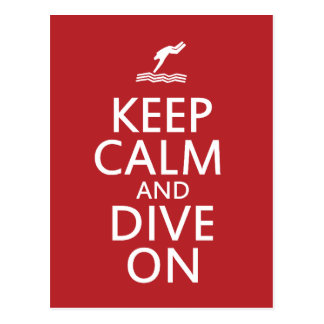 Keep Calm and Dive on Postcard