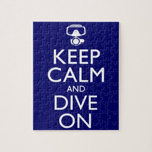 Keep Calm and Dive On Puzzle