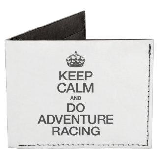 KEEP CALM AND DO ADVENTURE RACING BILLFOLD WALLET