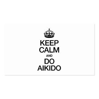 KEEP CALM AND DO AIKIDO BUSINESS CARD