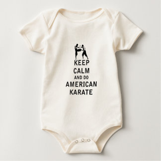 Keep Calm and Do American Karate Baby Bodysuit