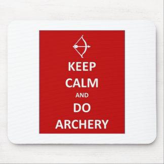 keep calm and do archery mouse pad