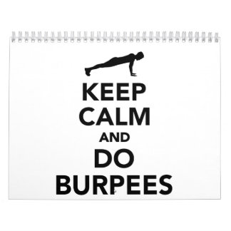 Keep calm and do burpees calendar