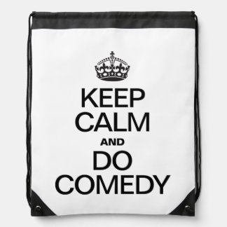 KEEP CALM AND DO COMEDY BACKPACK