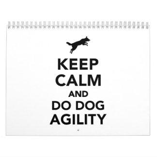 Keep calm and do dog agility calendar