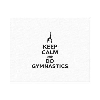 Keep calm and do Gymnastics Gallery Wrap Canvas