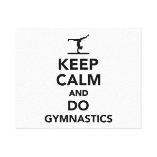 Keep calm and do gymnastics canvas print