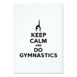 Keep calm and do Gymnastics Card