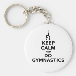 Keep calm and do Gymnastics Keychain