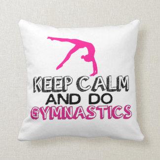 Keep Calm and Do Gymnastics Pillow
