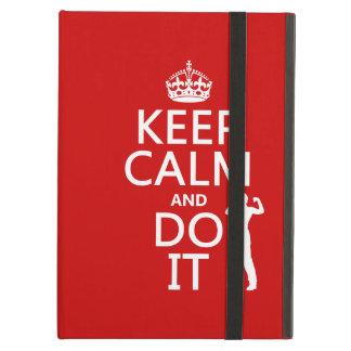 Keep Calm and Do It any background color iPad Folio Case