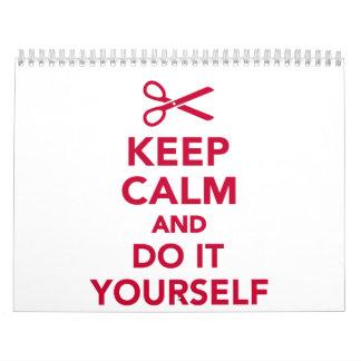 Keep calm and do it yourself calendar