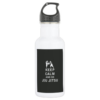 Keep Calm and Do Jiu-Jitsu Stainless Steel Water Bottle