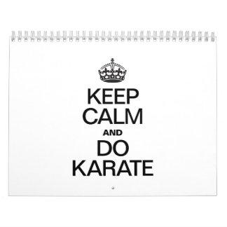 KEEP CALM AND DO KARATE.ai Calendar