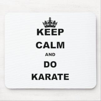 KEEP CALM AND DO KARATE MOUSE PAD