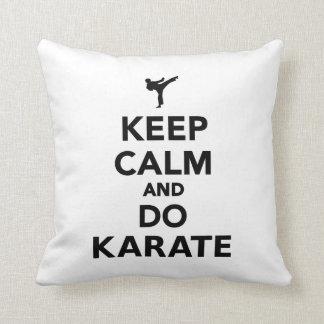 Keep calm and do Karate Throw Pillows