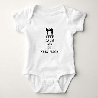 Keep Calm and Do Krav Maga Baby Bodysuit