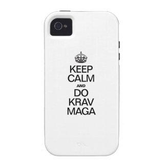 KEEP CALM AND DO KRAV MAGA iPhone 4/4S COVERS