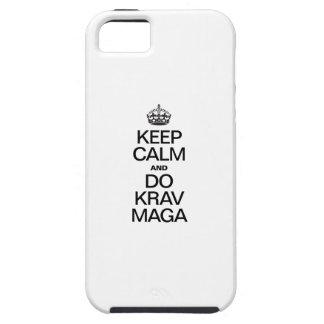 KEEP CALM AND DO KRAV MAGA iPhone 5 CASES