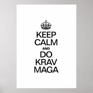 KEEP CALM AND DO KRAV MAGA POSTER