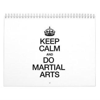 KEEP CALM AND DO MARTIAL ARTS WALL CALENDARS