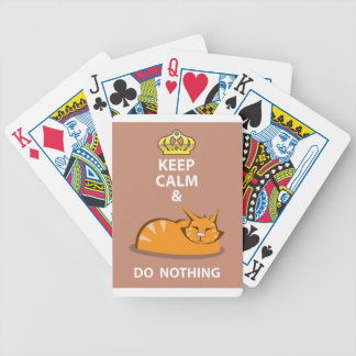 Keep Calm and Do Nothing Bicycle Playing Cards