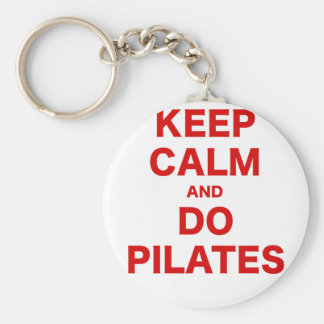 Keep Calm and Do Pilates Basic Round Button Keychain