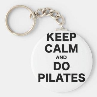 Keep Calm and Do Pilates Key Chain