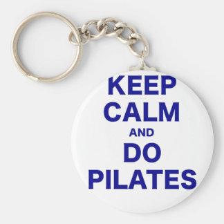 Keep Calm and Do Pilates Keychain
