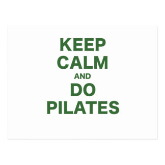 Keep Calm and Do Pilates Postcard