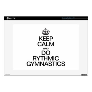 KEEP CALM AND DO RYTHMIC GYMNASTICS DECAL FOR LAPTOP