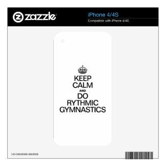 KEEP CALM AND DO RYTHMIC GYMNASTICS SKINS FOR iPhone 4S