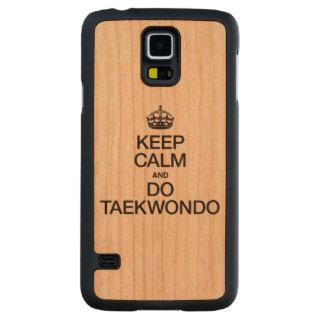 KEEP CALM AND DO TAEKWONDO CARVED® CHERRY GALAXY S5 CASE