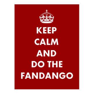 Keep Calm And Do The Fandango Postcard