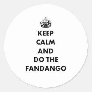 Keep Calm And Do The Fandango Stickers
