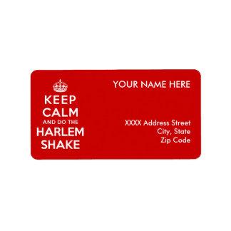 Keep Calm and do the Harlem Shake Label